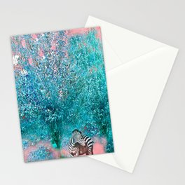 TREES AND ZEBRAS Stationery Cards