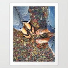 Getting Our Feet Wet Art Print
