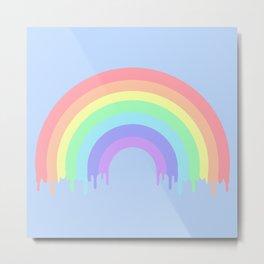 Dripping Pastel Rainbow Metal Print