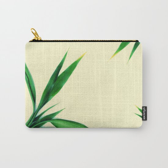 Bamboo leaves #1 #decor #art #society6 Carry-All Pouch
