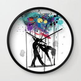 rain again  Wall Clock