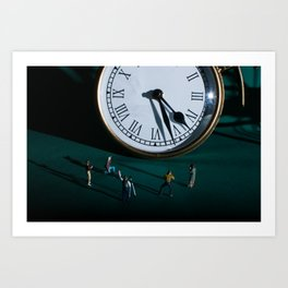 The Clock Watchers Art Print