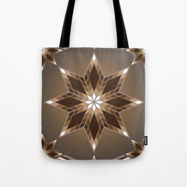Morning Star Circle (Brown) Tote Bag