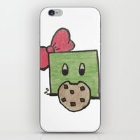 cookie monster iPhone & iPod Skins featuring Cookie Monster Slime by MishanAngel