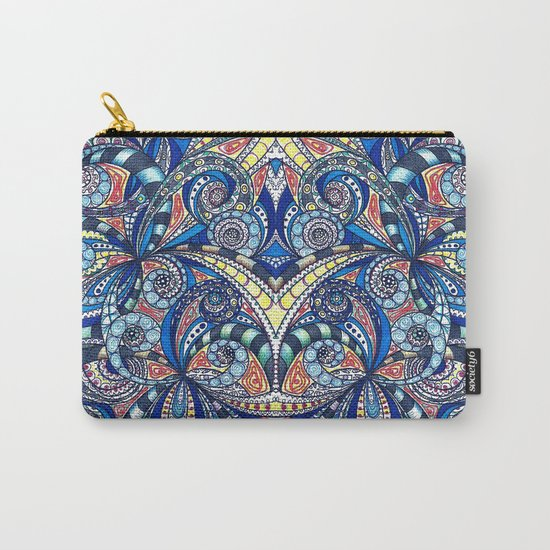 Drawing Floral Zentangle G7B Carry-All Pouch