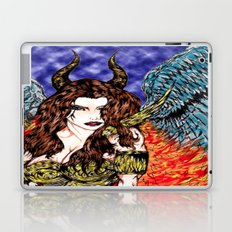 angel or demon in color Laptop & iPad Skin