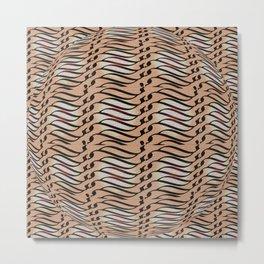 Weave in brown Metal Print