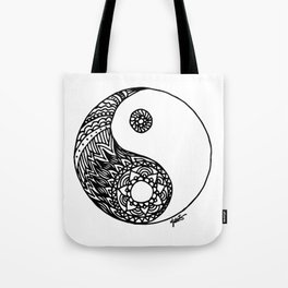 Tangled Yin Yang Tote Bag