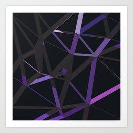 3D Futuristic GEO Lines XII Art Print