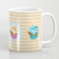 cupcakes Mugs featuring Cupcakes by Xiao Twins