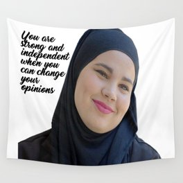 SKAM - Sana Bakkoush - You are strong and indipendent Wall Tapestry