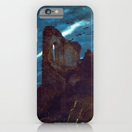 Twilight of the Abandoned Isles landscape painting by Arnold Bocklin iPhone Case