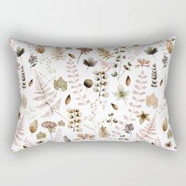 Herbarium white Rectangular Pillow