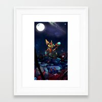 heroes Framed Art Prints featuring Heroes by Viivi K