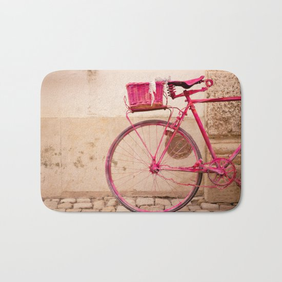 Lady in Pink Bath Mat