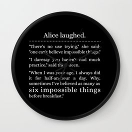 Alice laughed Wall Clock