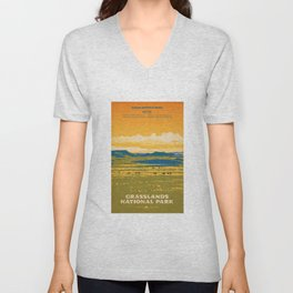 Grasslands National Park Poster Unisex V-Neck