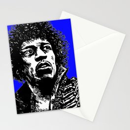 Jimi Hendrix Pop-Art (Blue) Stationery Cards
