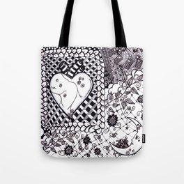 Black&Whiteheart Tote Bag