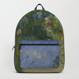 Paul Cezanne - Bend in the Road Through the Forest Backpack