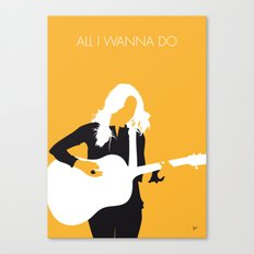 No074 MY Sheryl Crow Minimal Music poster Canvas Print