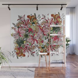 Flowers bouquet (white) Wall Mural