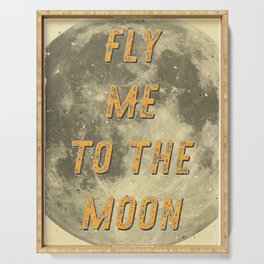 Fly me to the Moon - 50 Years Moon Landing Serving Tray