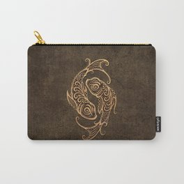 Vintage Rustic Pisces Zodiac Sign Carry-All Pouch