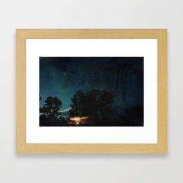Night Stable Framed Art Print