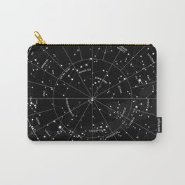Constellation Map - Black & White Carry-All Pouch