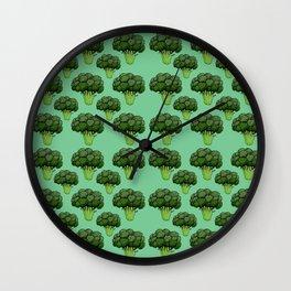 Broccoli Pattern Wall Clock