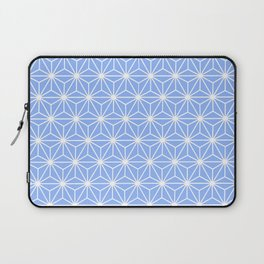 Cold Blue Geometric Flowers and Florals Isosceles Triangle Laptop Sleeve