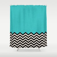dance Shower Curtains featuring Follow the Sky by Bianca Green