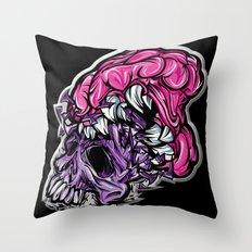 Skull CRUNCH ! Throw Pillow
