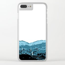Powerlines in Japan - minimalist mountains Clear iPhone Case