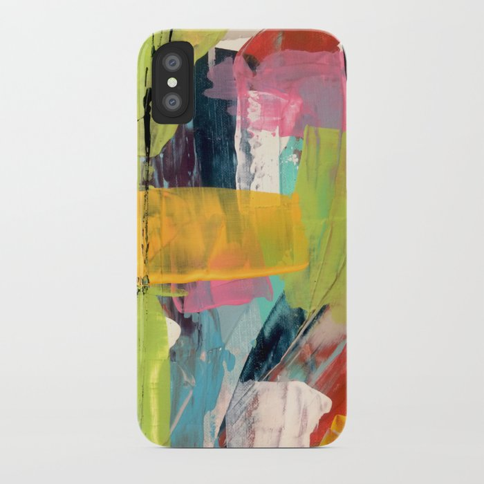 Hopeful[2] - a bright mixed media abstract piece iPhone Case