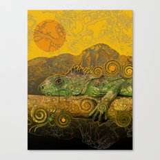 Just Chilling and Dreaming...(Lizard) Canvas Print