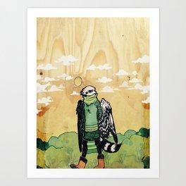 Boots Burd Art Print