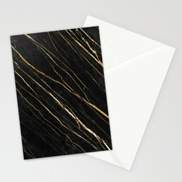 Cracked Gold Marble Stationery Cards