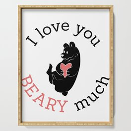 I love you Beary much Serving Tray
