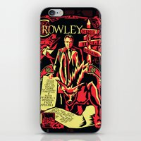 crowley iPhone & iPod Skins featuring Crowley by Tracey Gurney
