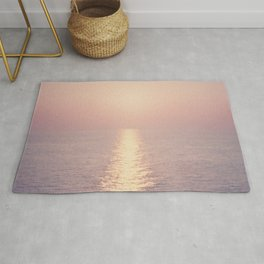 cashmere rose sunset Rug