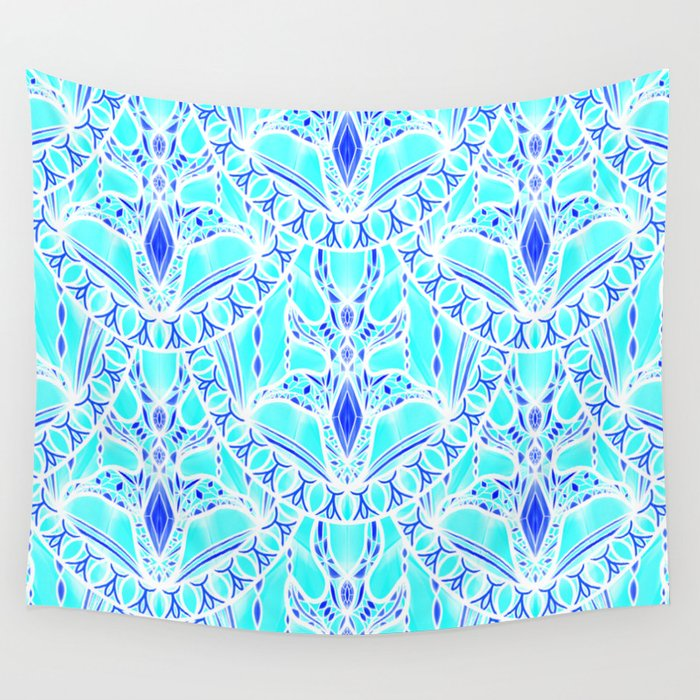 Frozen Scales Wall Tapestry