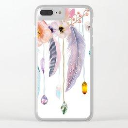 Atherstone Feather Spirit Gazer Clear iPhone Case