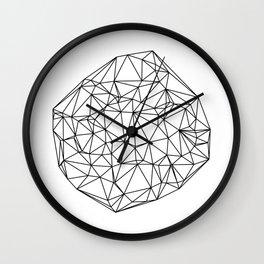 Random delaunay triangulation - white Wall Clock