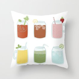 Mason Drinks Throw Pillow