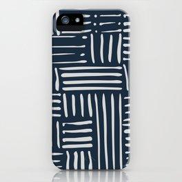 Weave in Blue iPhone Case