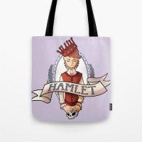 hamlet Tote Bags featuring Hamlet by Michelle Dadoun