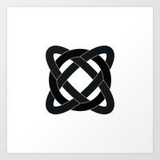 #372 Strange orbit – Geometry Daily Art Print
