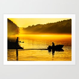 The Distance Between Us - Dawn on The Chattahoochee Art Print